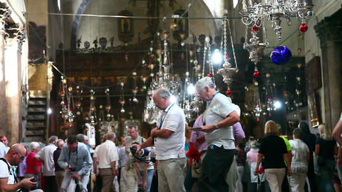 Church of the Nativity November 12, 2012 in Bethlehem,... Stock Video Footage