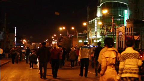 People crossing a street Stock Video Footage