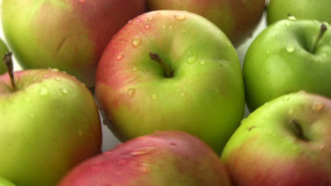 Rotation of the apples Stock Video Footage