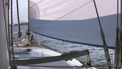 Bow of the yacht Stock Video Footage