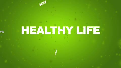 Healthy Life related words Animation