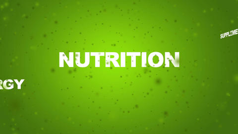 Healthy Life related words Stock Video Footage