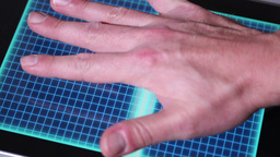 Hand Scanner Granted Stock Video Footage