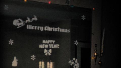 Beautiful Christmas Tree 1957 Vintage 8mm film Stock Video Footage
