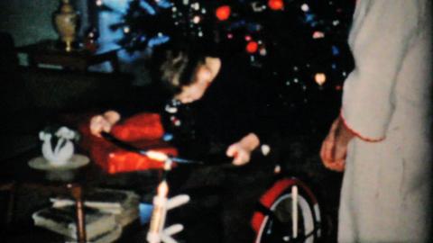 Boy Gets New Bike For Christmas 1957 Vintage 8mm film Footage