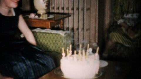 Girl Celebrates Her 12th Birthday 1960 Vintage 8mm film Stock Video Footage