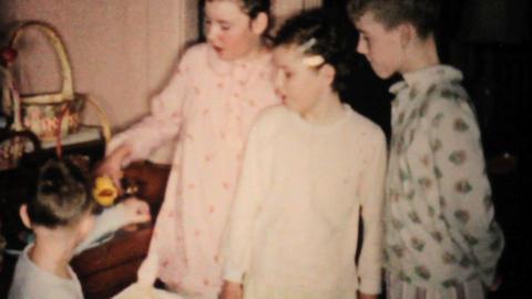 Kids Singing Easter Songs 1955 Vintage 8mm film Stock Video Footage