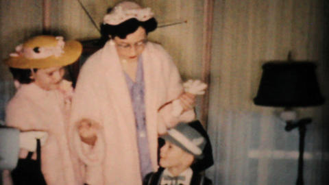 Sharp Dressed Boy In New Easter Outfits 1957 Vintage 8mm... Stock Video Footage