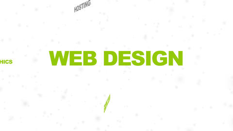 Web Design Related Words stock footage