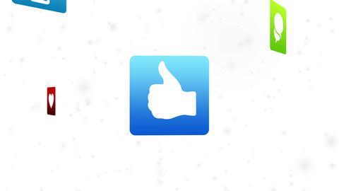 Social Media Icons Animation