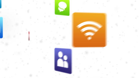Social Media Icons Stock Video Footage