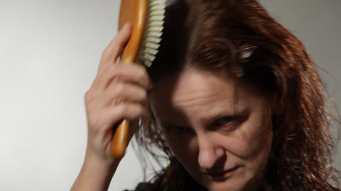Portrait of a woman in the studio Stock Video Footage