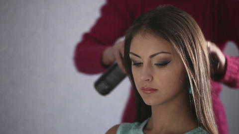 Hair styling Stock Video Footage