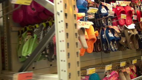 Footwear store Stock Video Footage