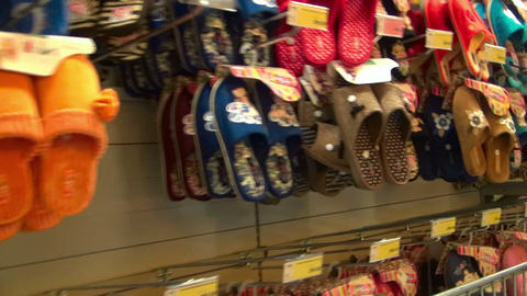 Footwear store Stock Video Footage