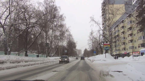 Sreets of Novosibirsk Stock Video Footage