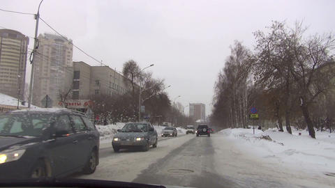Sreets of Novosibirsk Footage
