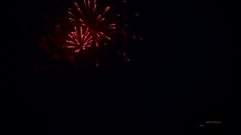 Festive fireworks Footage