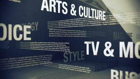 Generic Magazine Contents and Sections Stock Video Footage