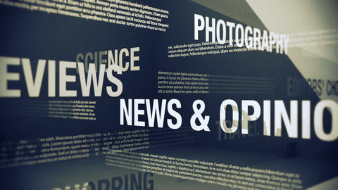 Generic Magazine Contents And Sections stock footage