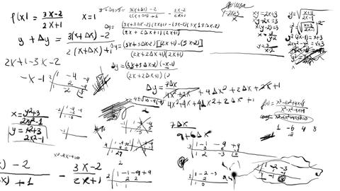Math Equations Scribbling Design Element stock footage