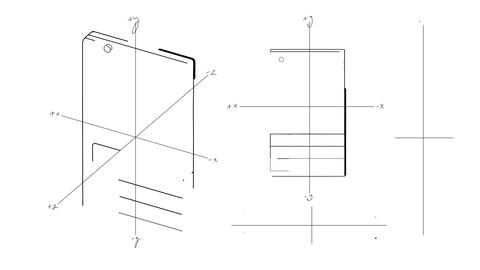 Classic Smartphone Technical Drawing Stock Video Footage