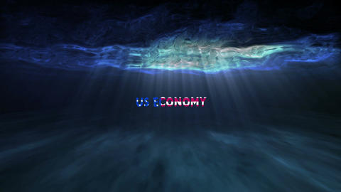 Underwater US Economy Stock Video Footage