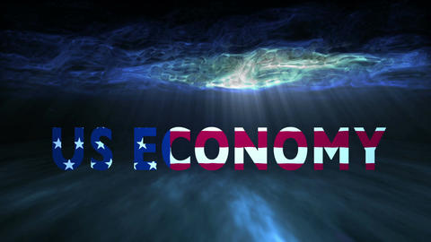 Underwater US Economy stock footage