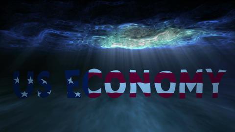 Underwater US Economy Stock Video Footage
