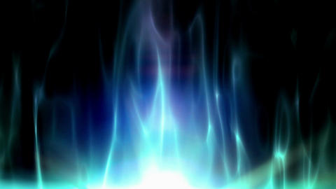 Blue abstract flames Stock Video Footage