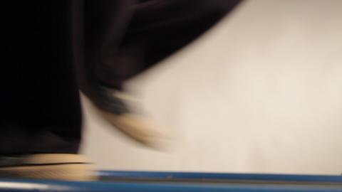 Treadmill, man running on treadmill Stock Video Footage