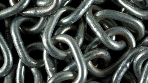 Chain Pile stock footage