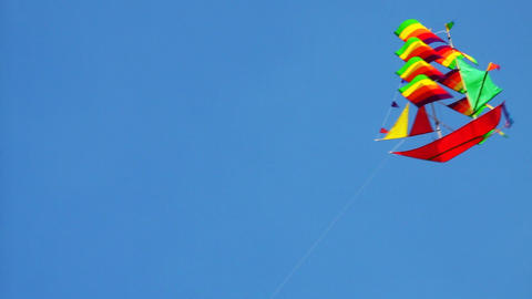 Kite In Sky stock footage