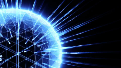 Abstract communication device, blue tint Stock Video Footage