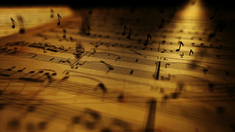 Musical notes Stock Video Footage
