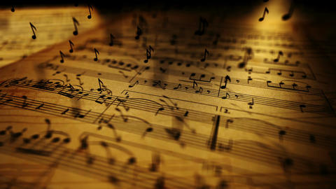 Musical Notes stock footage
