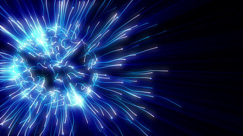 Abstract blue plasma sphere Stock Video Footage