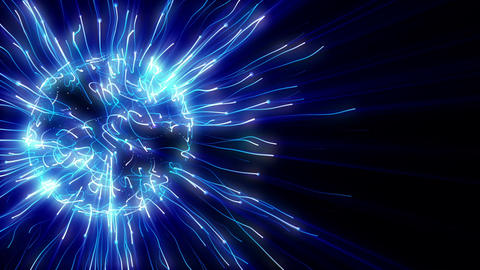 Abstract blue plasma sphere Animation