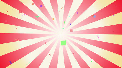 Confetti and radial background video Animation