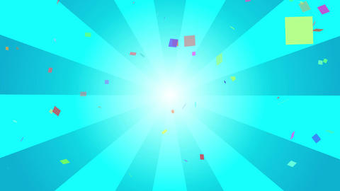 Colorful confetti and radial background videos Animation