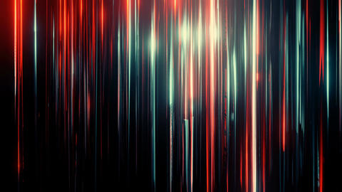 Abstract colorful shine blinking line from top to down on black backdrop. Big data, future Animation