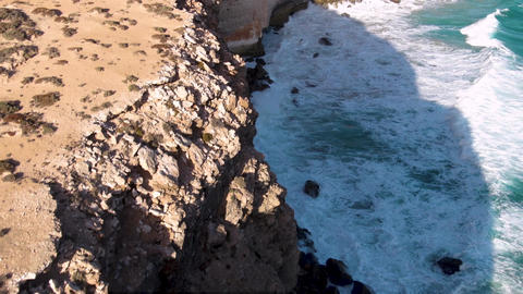 Aerial footage of the Great Australian Bight, Nullarbor plain desert. SA Tourism Live Action