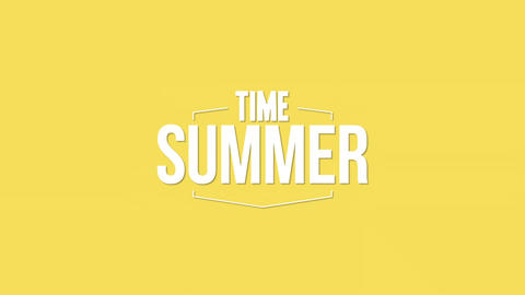 Animated text Summer Time with gradient yellow summer background Animation