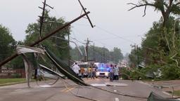 Tornado damage Footage