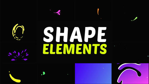 Liquid Shapes Pack After Effects Template