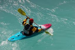 kayaking on river Soca 사진