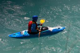 kayaking on river Soca Photo