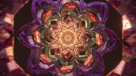 Love 3D psychedelic loop with trippy motion loop new age visual animation for spiritual awakening Animation