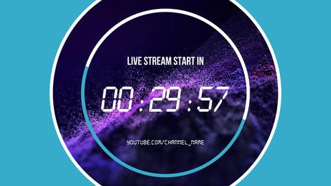 Live stream timers
