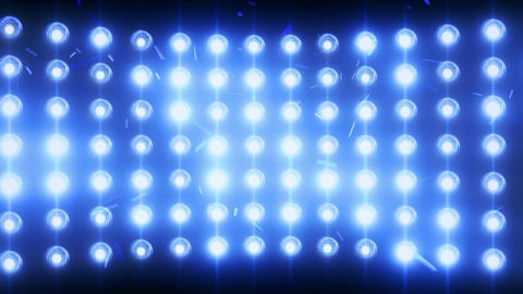 Bright Flood Lights Background With Particles And Glow, Blue Tint stock footage